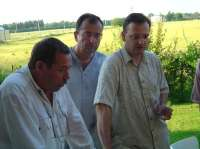 With Jefim Fistein and Petr Necas, July 2006
