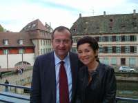 With the AEP administrator Clarisse Goussaud, Strasbourg 2006