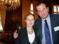 With Laurence Ehlers, Federation of European Medical Acaemies, Brussels 2006