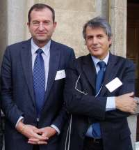With Luigi Fratti, president of FEAM and rector, University La Sapeinza, Rome. Brussels 2006.