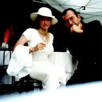 With the daughter Karolina in Vienna, around 2001