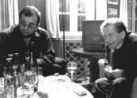 With president Vaclav Havel at Villa Amalka, 1996