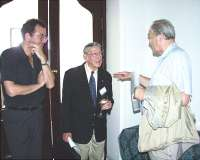 With the Nobel Prize laureate Robert R. Furchgott (center) and R.Rokyta, 2002